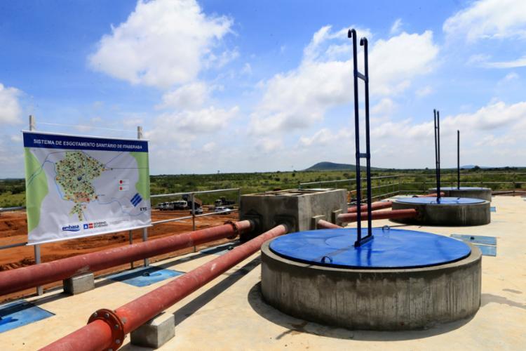 O sistema de esgotamento sanitário de Itaberaba conta com um investimento total de R$ 72,5 milhões - Foto: Mateus Pereira/GOVBA