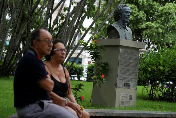 Busto do líder Lucas Dantas é um dos que homenageiam as lideranças - Foto: Raphael Müller   Ag. A TARDE