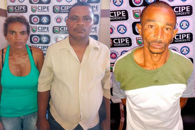 Givalda Batista, Márcio de Souza e José Ailson foram apresentados a delegacia e presos - Foto: Divulgação | SSP-BA