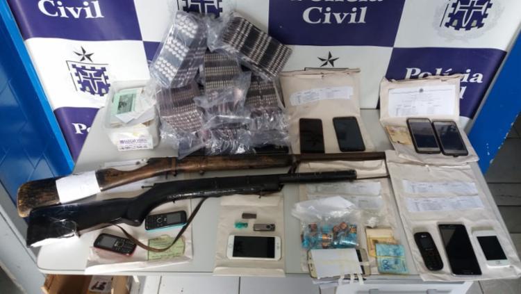 Operação Fachada também apreendeu armas artesanais, drogas e munições - Foto: Divulgação | SSP