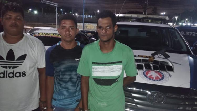 Os três foram autuados na Central de Flagrantes por prática de roubo - Foto: Divulgação | SSP-BA