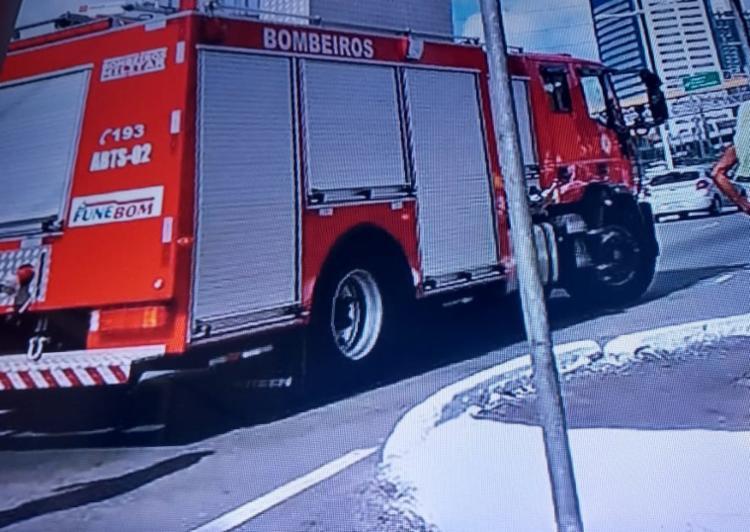 Princípio de incêndio ocorreu na manhã desta segunda-feira - Foto: Reprodução | TV Record