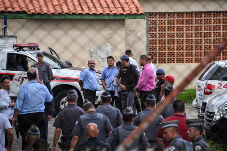 Após o atentado na Escola Estadual Raul Brasil, em Suzano (SP), diversos colégios passaram a receber trotes com ameaça de possíveis ataques - Foto: Nelson Almeida | AFP