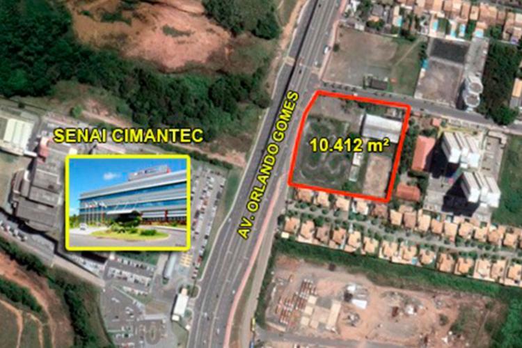 Terreno de 10.412 m² está localizado próximo ao Centro Tecnológico Senai/Cimatec - Foto: Divulgação
