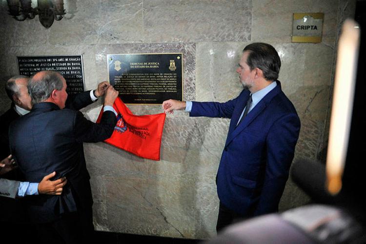 Toffoli inaugurou placa em comemoração aos 410 anos do TJ-BA