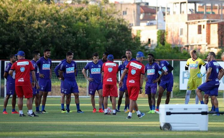 O elenco tricolor iniciou a preparação para o jogo contra o Atlético de Alagoinhas - Foto: Felipe Oliveira l EC Bahia
