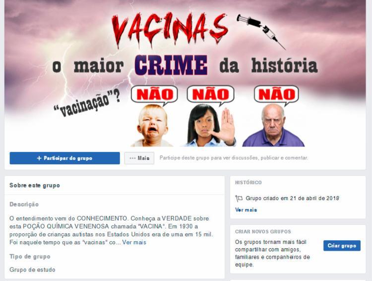 Grupos que espalham informações falsas devem ser excluídos da rede social