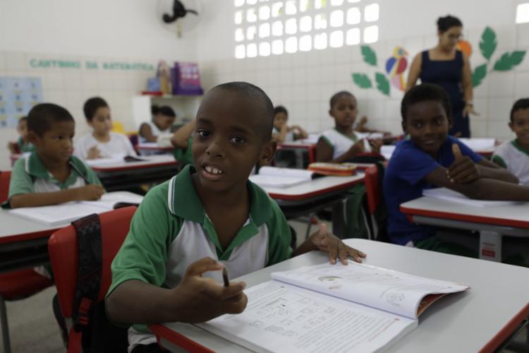 Crianças evangélicas são maioria na escola - Foto: Joá Souza l Ag. A TARDE