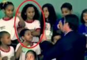 Correção: é errado se afirmar que criança se recusa a cumprimentar Bolsonaro | Foto: