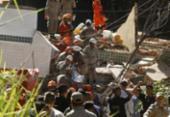 Bombeiros resgataram mais um corpo nos escombros de prédios que desabaram no Rio | Foto: