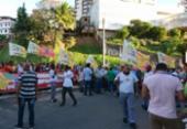Rodoviários de Salvador protestam contra reajuste oferecido por empresas | Foto: Raul Aguilar