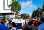 Cerca de 500 petroleiros protestam em frente a sede da Petrobras em Salvador | Foto: Divulgação | Sindpetro