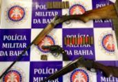Homem é preso em flagrante por porte ilegal de armas   Divulgação   SSP-BA