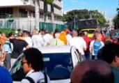 Petroleiros protestam em frente à sede da Petrobras   Divulgação   Sindpetro