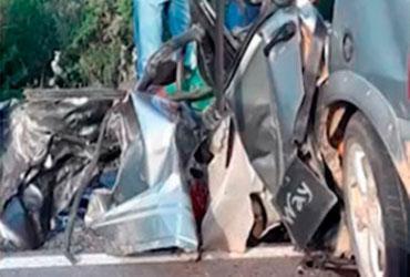 Dois homens morrem e um fica ferido após colisão na BR-407   Reprodução   TV Bahia