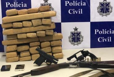 Homem foge após ser encontrado com 40kg de maconha   Divulgação   SSP/ BA