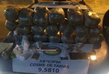 Homens são presos transportando 21 kg de drogas | Divulgação | SSP-BA