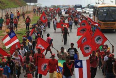 Marcha dos trabalhadores sem terra chega a Salvador   Joá Souza   Ag. A TARDE