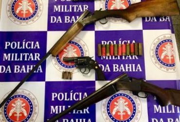 Homem é preso em flagrante por porte ilegal de armas | Divulgação | SSP-BA