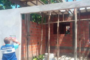 Construções irregulares em área de proteção ambiental são interditadas | Divulgação | Sedur
