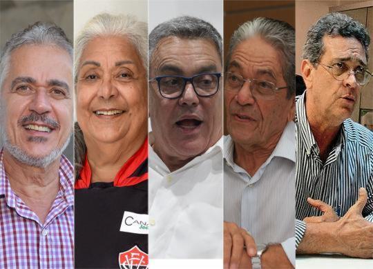 Sócios do Rubro-Negro votam para presidente nesta 4ª; cinco candidatos estão na disputa | Montagem l AG. A TARDE