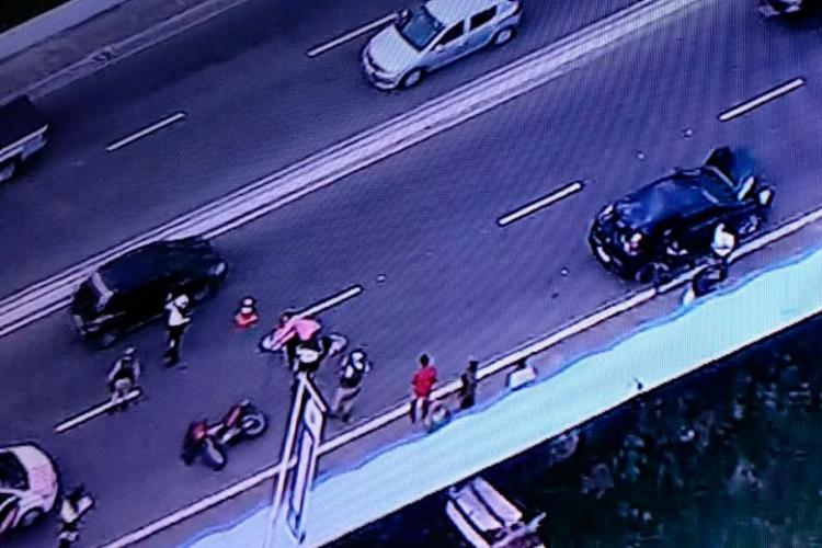 Acidente aconteceu por volta das 8h - Foto: Reprodução | TV Record Bahia