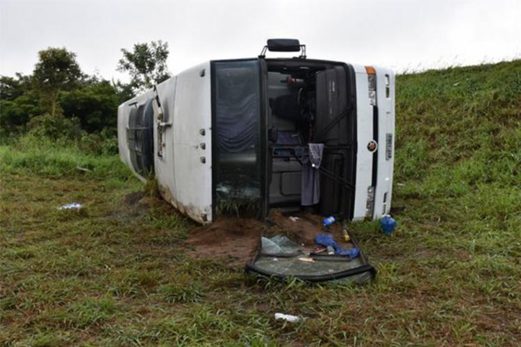 Ônibus levava 45 torcedores do Corinthians - Foto: Reprodução | Blog do Anderson