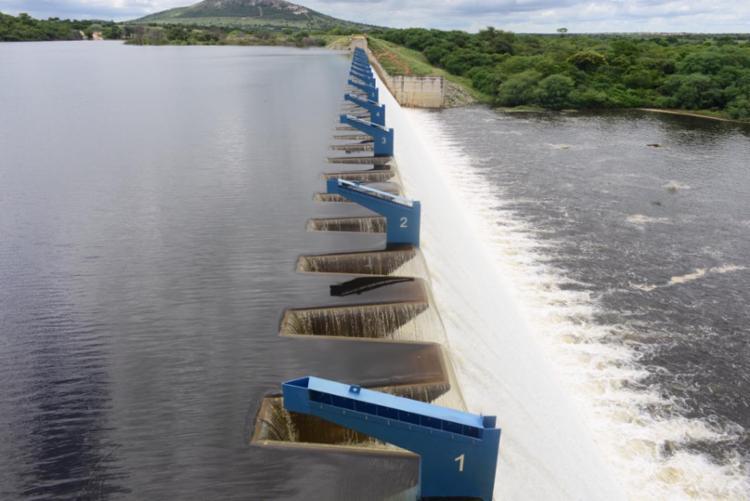 A implantação do sistema fusegate aumentou a capacidade do reservatório de água em cerca de 24%, acréscimo de 9,34 milhões de m³ - Foto: Divulgação