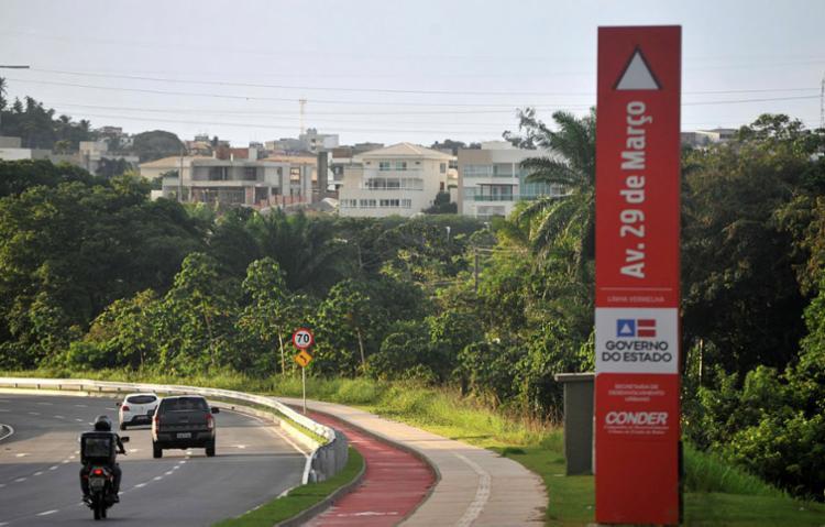 Nova via começa na Paralela e vai até a Estrada Velha do Aeroporto - Foto: Felipe Iruatã | Ag. A TARDE