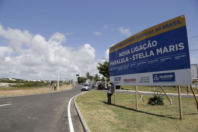 A solenidade acontece no início da avenida Mãe Stella de Oxóssi, no sentido Orla - Foto: Gilberto Junior l Ag. A TARDE l 2.1.2019