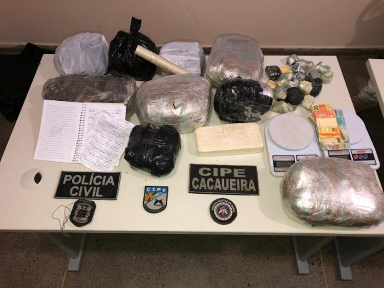 Policiais receberam informações de que uma grande quantidade de droga chegaria ao município - Foto: Divulgação | SSP-BA