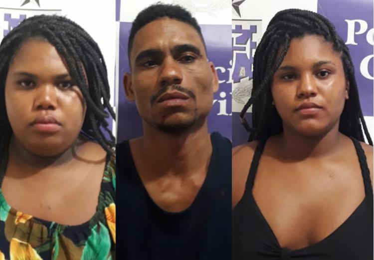 Trio foi encaminhado para Delegacia Territorial de Alagoinhas - Foto: Divulgação | SSP-BA
