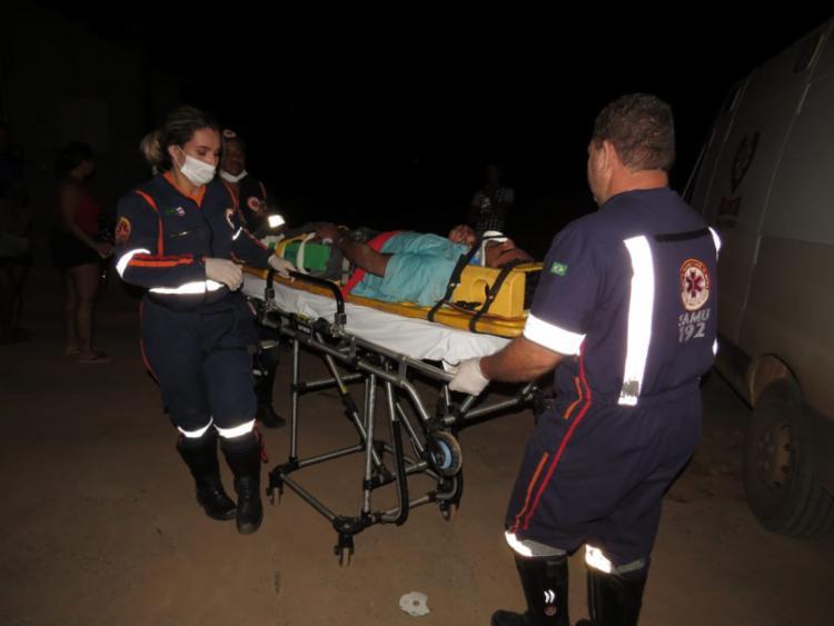 A vítima foi encaminhada à uma Unidade de Pronto Atendimento do município - Foto: Edivaldo Braga | Blog Braga