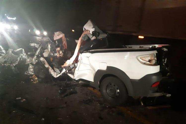 Após acidente, veículo ficou destruído - Foto: Reprodução | Blog do Anderson