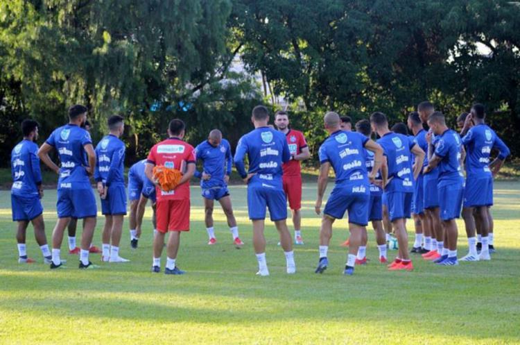 A provável equipe titular participou de atividade com bola e, em seguida, realizou um trabalho técnico - Foto: Divulgação l EC Bahia
