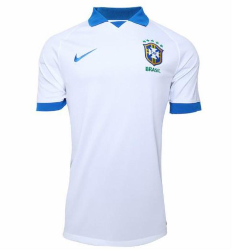 Nova camisa será branca com detalhes em azul nas mangas e na gola - Foto: Reprodução | Twitter