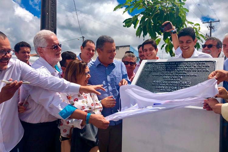 Governador Rui Costa participou do evento de entrega da nova rodovia - Foto: Roberto Aguiar | Ag. A TARDE