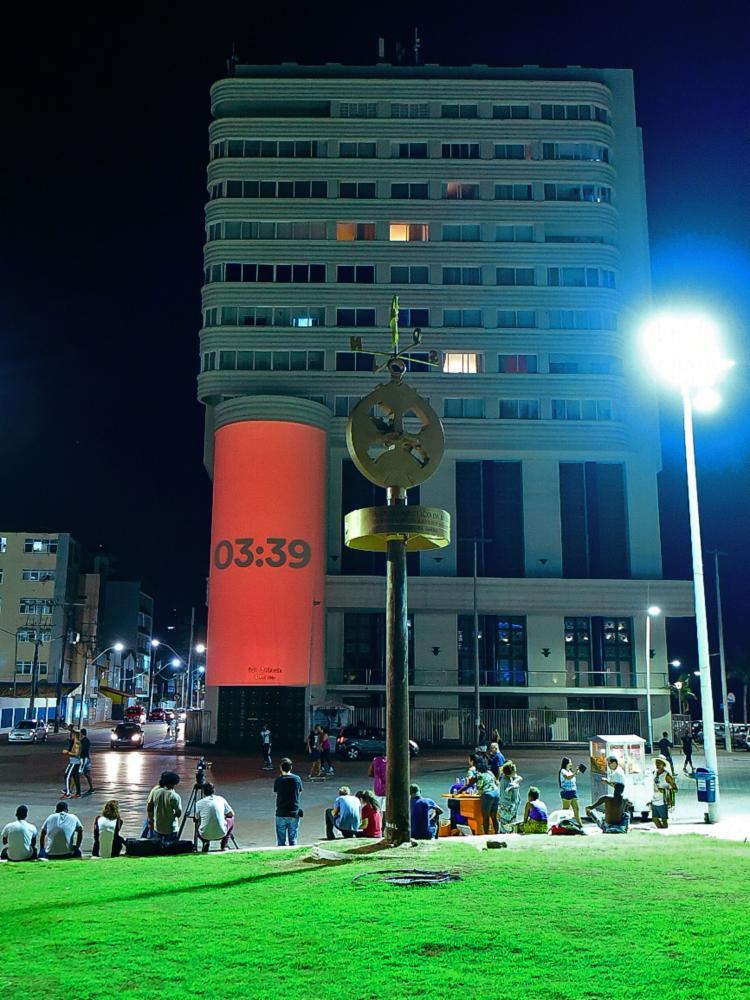 Em Salvador, o endereço escolhido para a projeção foi um edifício localizado na rua Marques de Leão, 46
