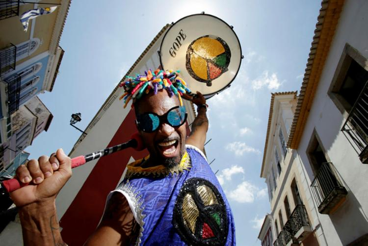 Em 2019, o Olodum irá fazer turnê internacional - Foto: Raul Spinassé | Ag. A TARDE