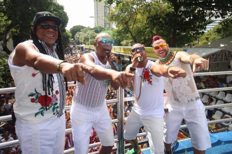 Banda Olodum no Carnaval de Salvador em 2019