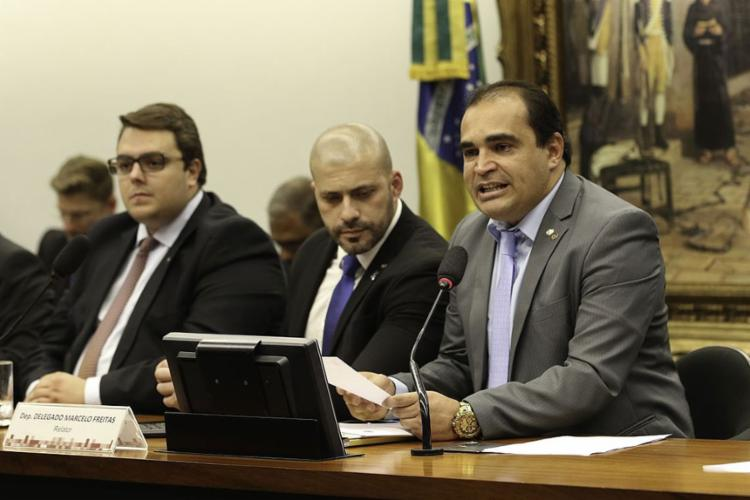 Para deputado Delegado Marcelo Freitas, a proposta não está em desacordo com a Constituição e deve ser admitida pela comissão - Foto: Fabio Rodrigues Pozzebom l Agência Brasil