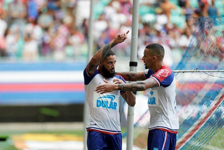 Com o triunfo, Bahia assume a 6ª posição no campeonato - Foto: Adilton Venegeroles | Ag. A TARDE
