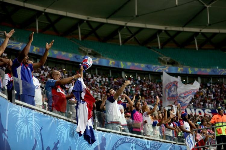 Tricolor contará com o apoio da sua torcida no jogo de ida da Copa do Brasil - Foto: Felipe Oliveira | EC Bahia
