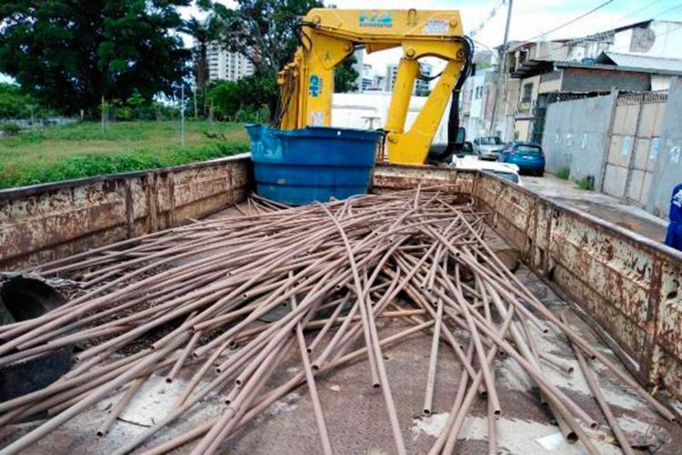 Materiais retirados pela Embasa foram encaminhados para reciclagem - Foto: Divulgação | Embasa