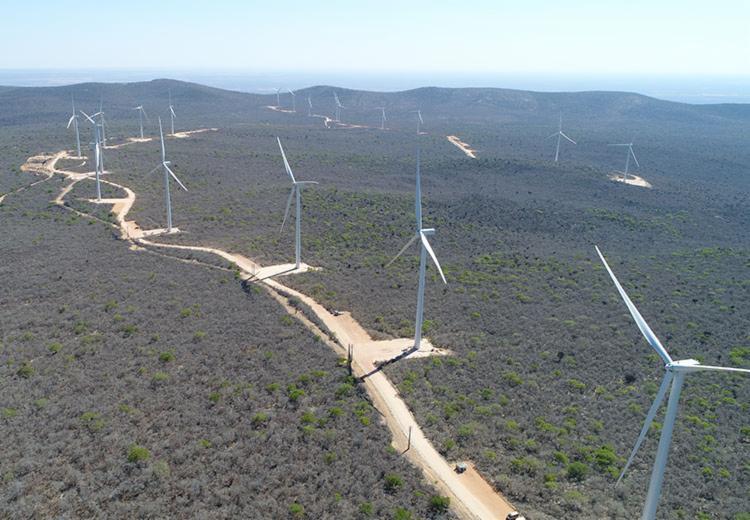 A empresa investiu R$ 1,8 bilhão no empreendimento, formado por 18 parques eólicos - Foto: Divulgação