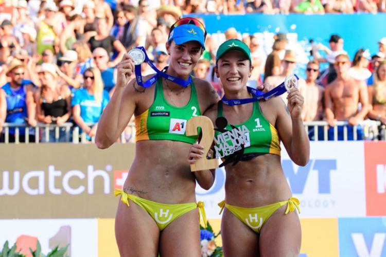 O Brasil tem vagas para duas duplas femininas na Olimpíada de Tóquio - Foto: Divulgação | FIVB