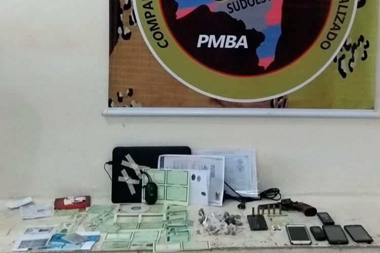 Material foi encontrado com suspeitos - Foto: Divulgação | SSP-BA