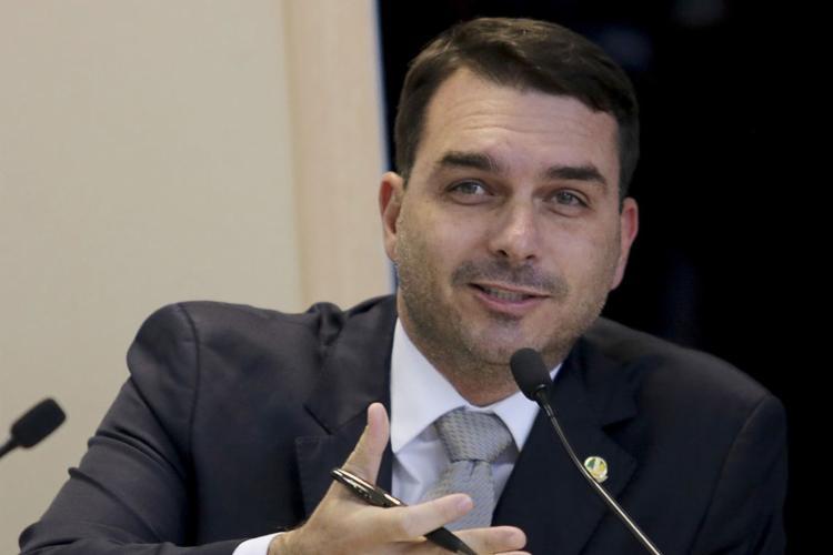 O senador Flávio Bolsonaro, do PSL-RJ - Foto: Wilson Dias l Agência Brasil