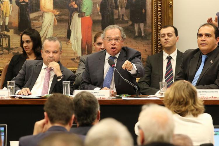 Primeiro teste de ministro da Economia na Câmara acabou em briga - Foto: Fabio Rodrigues Pozzebom l Agência Brasil