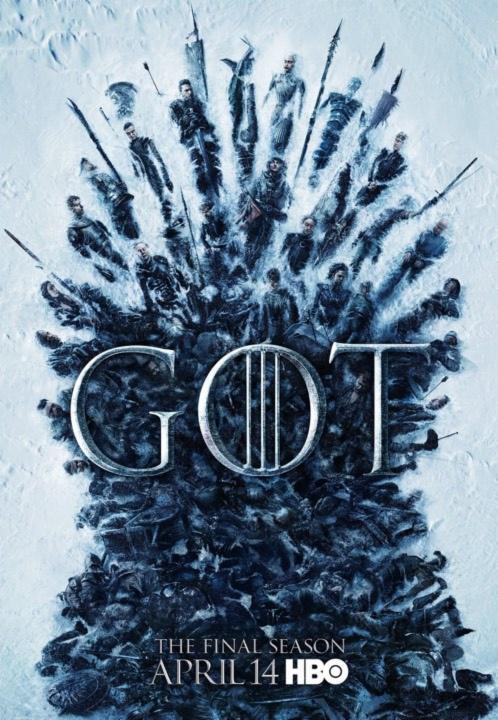 No poster o trono de ferro é composto pelo cadáver dos protagonistas